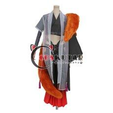 画像1: 刀剣乱舞 静形薙刀 コスプレ衣装 ファー付き (1)