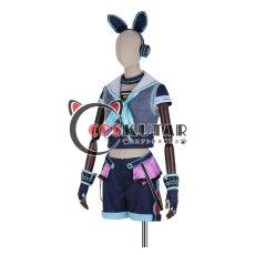 画像3: あんさんぶるスターズ! アミューズメント☆ネコとウサギのライブパーティ 仁兎なずな コスプレ衣装 (3)