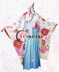 画像2: Fate/Grand Order FGO マシュ・キリエライト コスプレ衣装 正月礼装 概念礼装 いろはにほへと 和服  (2)