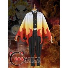 画像2: 鬼滅の刃 鬼殺隊 炎柱 煉獄杏寿郎 コスプレ衣装 (2)