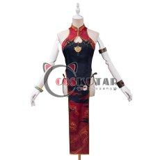 画像1: Fate/Grand Order FGO 酒呑童子 チャイナドレス コスプレ衣装 (1)