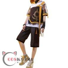 画像2: 原神 Genshin 桂林コラボドキュメンタリー 空 主人公 旅人 コスプレ衣装 (2)