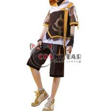 画像1: 原神 Genshin 桂林コラボドキュメンタリー 空 主人公 旅人 コスプレ衣装 (1)