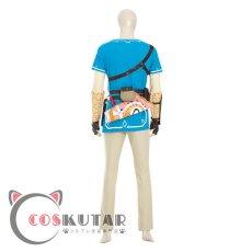 画像4: ゼルダの伝説 ブレスオブザワイルド リンク コスプレ衣装 (4)