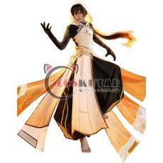画像1: 原神 Genshin 岩神 モラクス コスプレ衣装 修正版 (1)