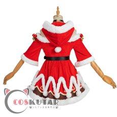 画像4: 原神 Genshin クリスマス サンタ服 バーバラ コスプレ衣装 (4)