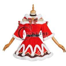 画像1: 原神 Genshin クリスマス サンタ服 バーバラ コスプレ衣装 (1)