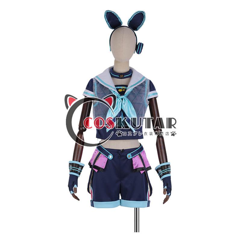 画像1: あんさんぶるスターズ! アミューズメント☆ネコとウサギのライブパーティ 仁兎なずな コスプレ衣装 (1)