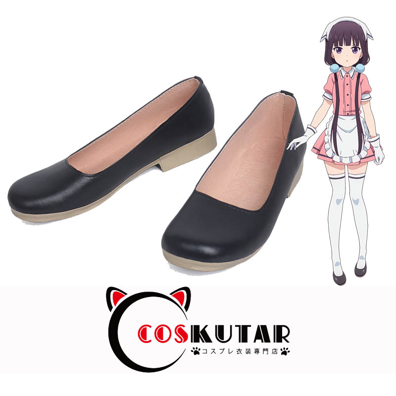 画像1: ブレンド・S 桜ノ宮苺香 メイド コスプレ靴 (1)