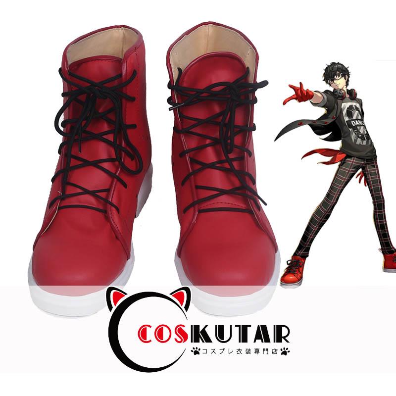 画像1: ペルソナ5 ダンシング・スターナイト 主人公 コスプレ靴 (1)
