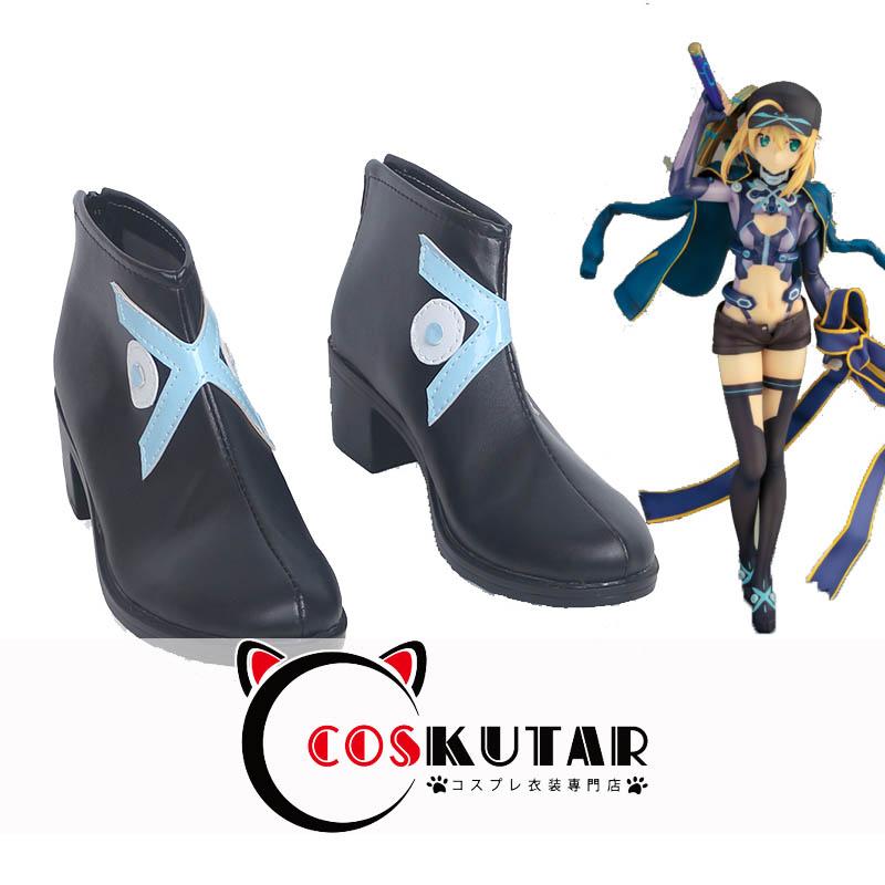画像1: Fate Grand Order FGO アサシン 謎のヒロインX コスプレ靴 (1)