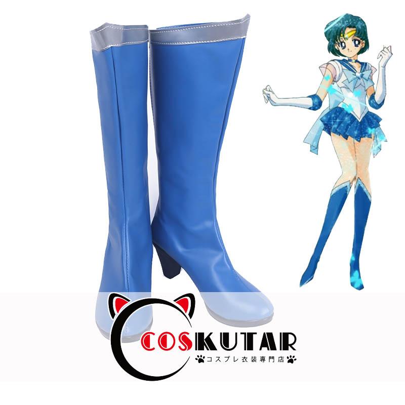 画像1: 美少女戦士セーラームーン 変身 水野亜美 コスプレ靴 (1)