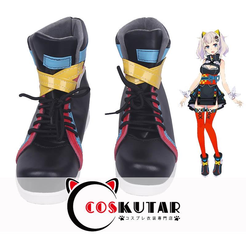 画像1: バーチャル YouTuber 輝夜月 コスプレ靴 (1)