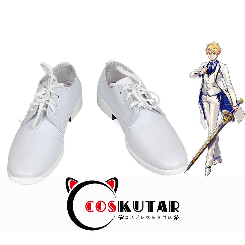 画像1: Fate/Grand Order FGO 白亜の薔薇 ホワイトローズ アーサー・ペンドラゴン コスプレ靴 (1)