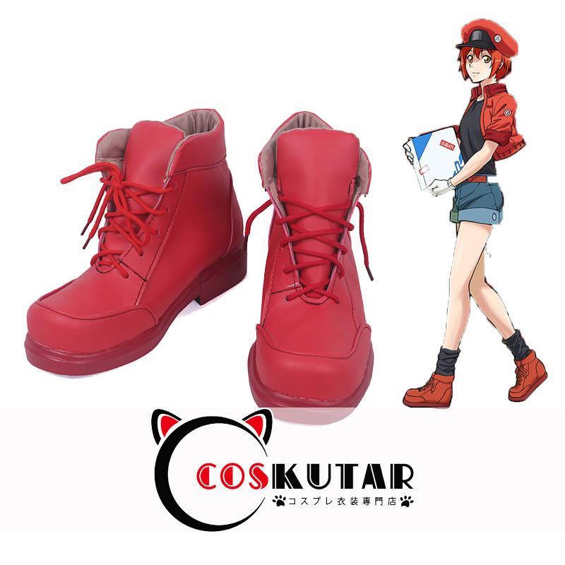 画像1: はたらく細胞 赤血球 コスプレ靴 (1)