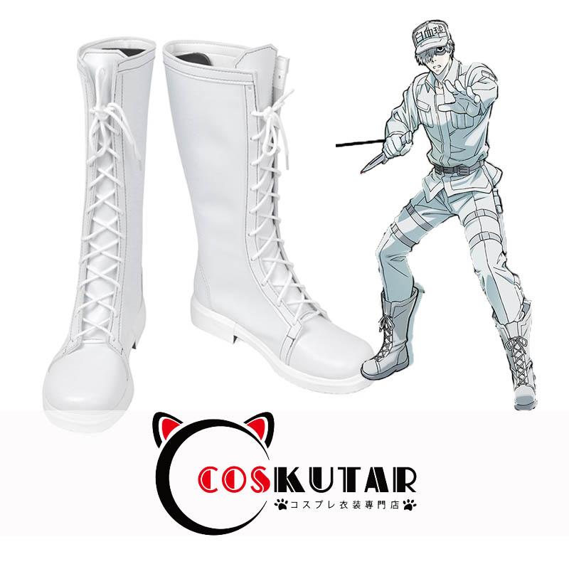 画像1: はたらく細胞 白血球 コスプレ靴 (1)