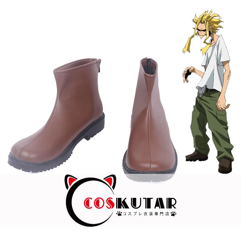 画像1: 僕のヒーローアカデミア オールマイト コスプレ靴 (1)