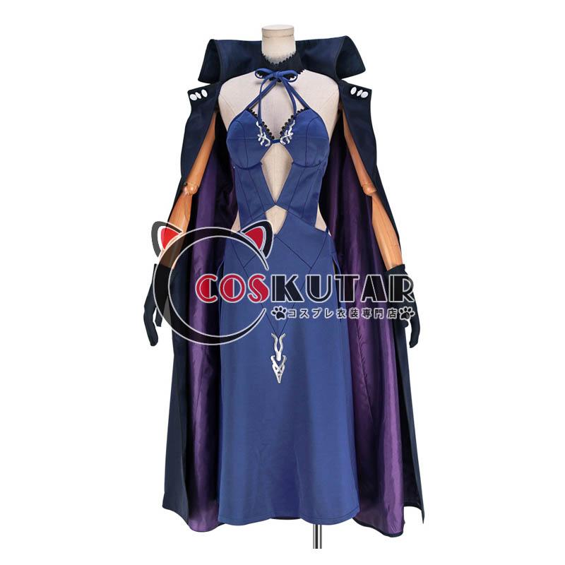 画像1: Fate/Grand Order FGO アルトリア・ペンドラゴン オルタ 霊基再臨 3段階 水着 黒王 コスプレ衣装 (1)