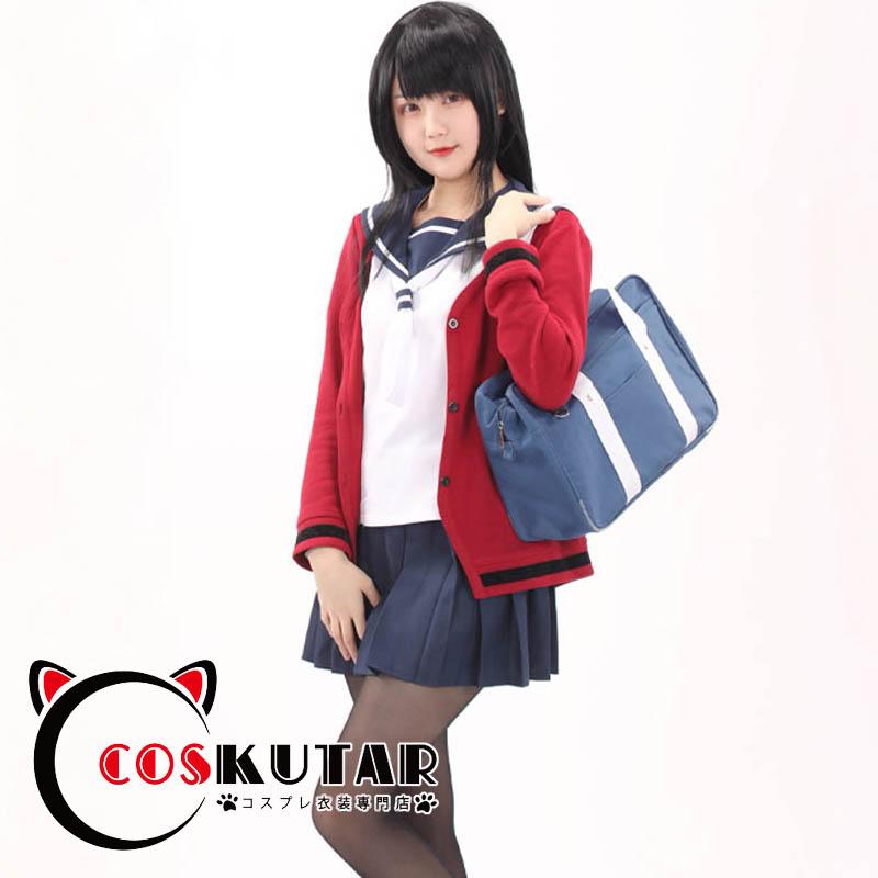 画像1: 川柳少女 雪白七々子 毒島エイジ コスプレ衣装 (1)