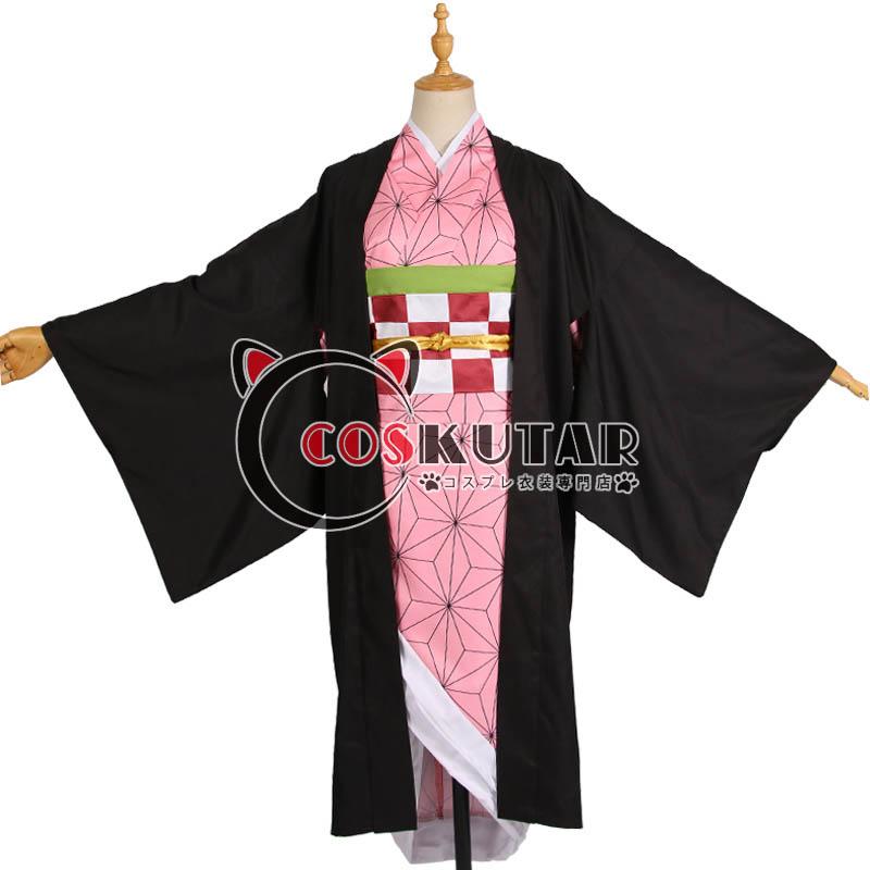 画像1: 鬼滅の刃 竈門禰豆子(かまど ねずこ) コスプレ衣装 (1)