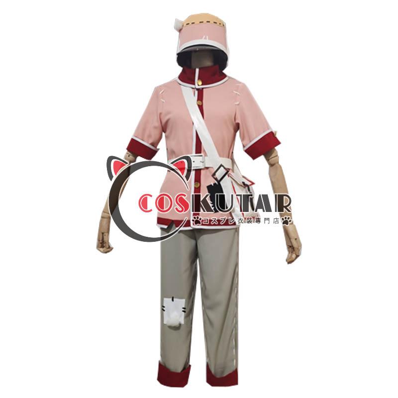 画像1: 第五人格 IdentityV 風格のピンク ポストマン コスプレ衣装 (1)