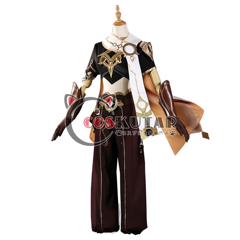 画像1: 原神 Genshin 主人公 空 コスプレ衣装 (1)