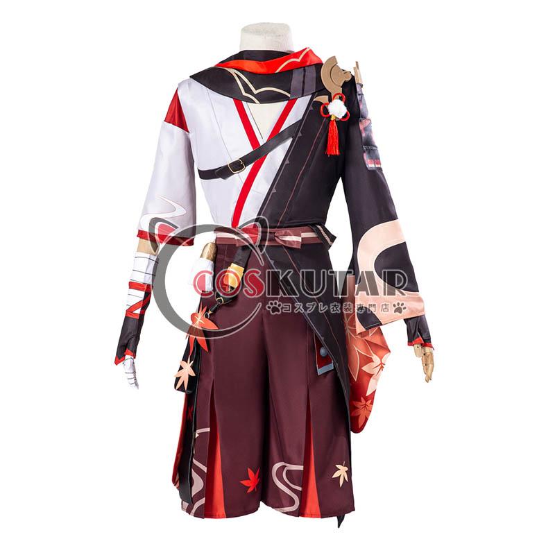 画像1: 原神 Genshin 楓原万葉 コスプレ衣装 (1)