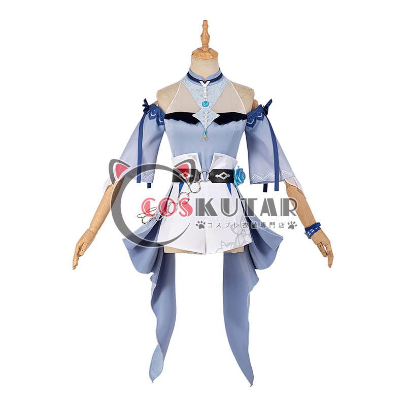 画像1: 原神 Genshin 水着 海風の夢 ジン コスプレ衣装 (1)