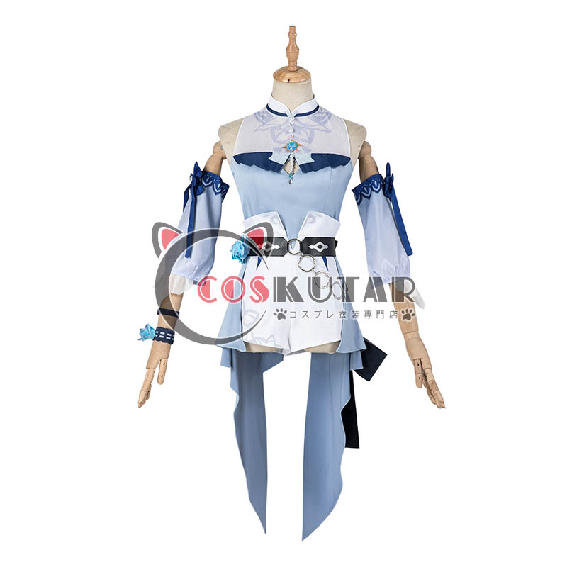 画像1: 原神 Genshin 水着 海風の夢 ジン コスプレ衣装 修正版 (1)