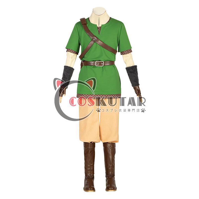 画像1: ゼルダの伝説 スカイウォードソード リンク コスプレ衣装 (1)