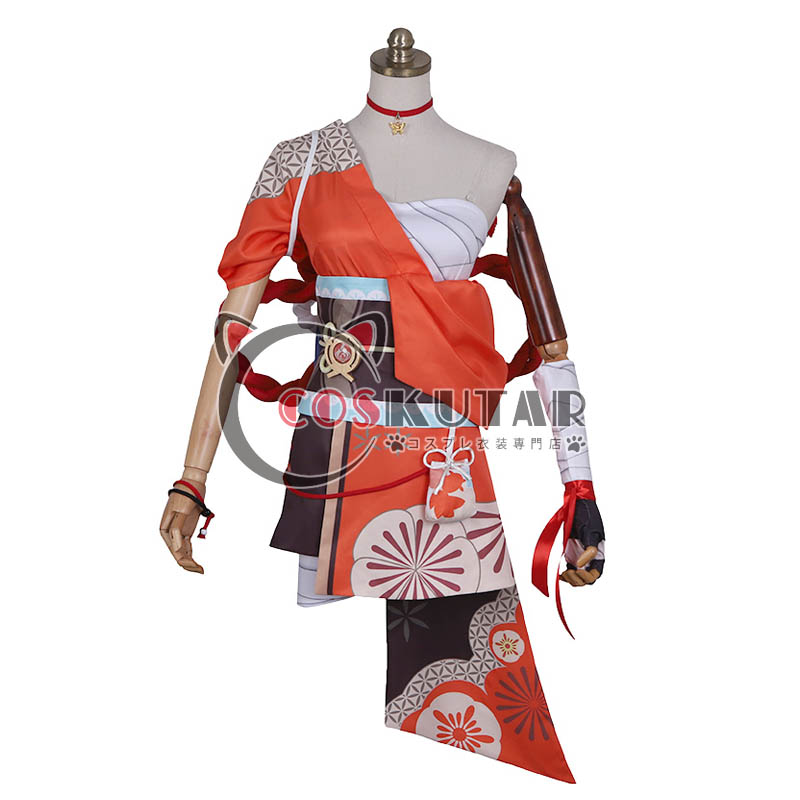 画像1: 原神 Genshin 宵宮 コスプレ衣装 (1)