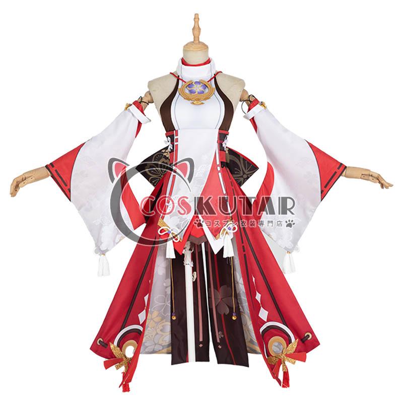 画像1: 原神 Genshin 八重神子 コスプレ衣装 (1)