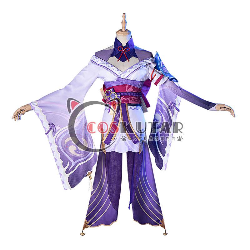 画像1: 原神 Genshin バアル 雷電将軍 コスプレ衣装 (1)