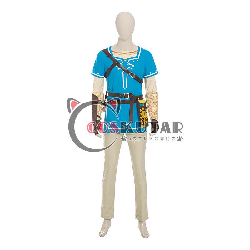 画像1: ゼルダの伝説 ブレスオブザワイルド リンク コスプレ衣装 (1)