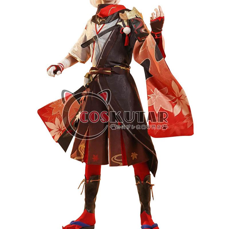 画像1: 原神 Genshin 楓原万葉 コスプレ衣装 修正版 (1)